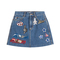 Marc jacobs - high-waisted denim skirt with embellished patches