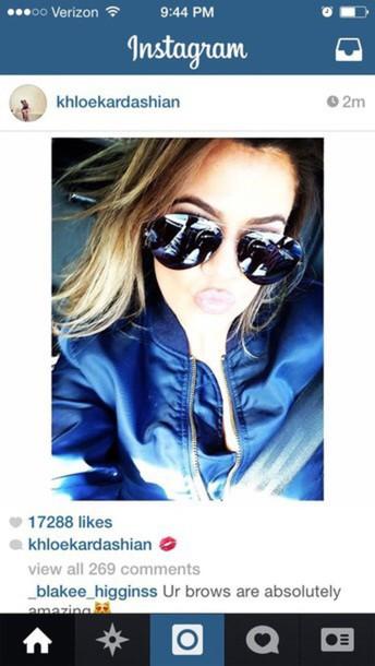 khloe kardashian aviator sunglasses