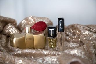 zoe macaron blogger cosmetics glitter nail polish gold classy wishlist