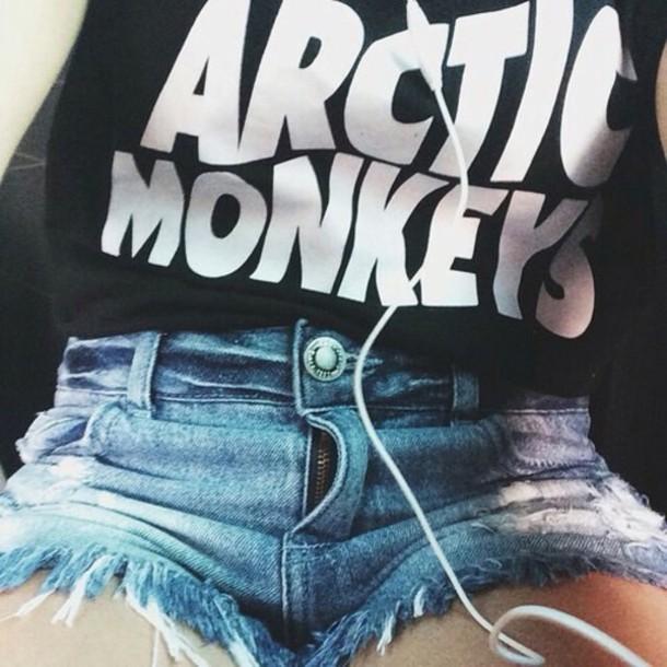 t-shirt arctic monkeys shirt