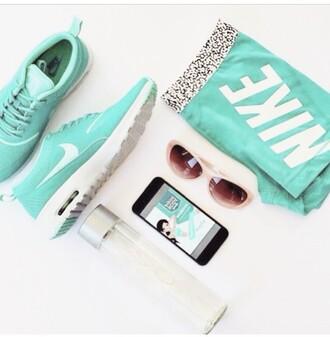 shoes nike shorts shorts mint sunglasses nike running shoes nike spandex nike spandex shorts nike pro mint green