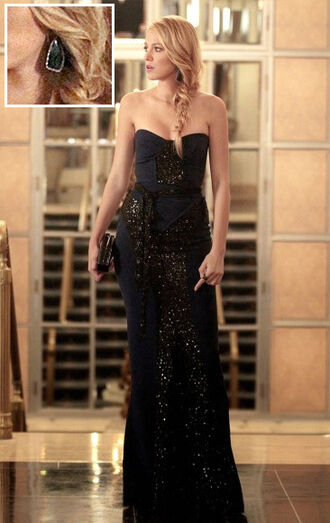 blake lively serena van der woodsen dress navy dress little black dress evening dress