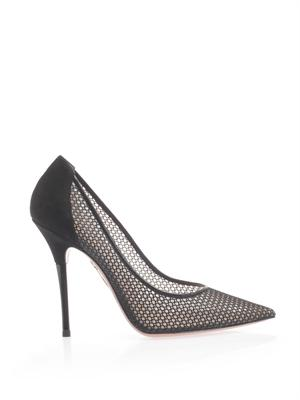 Lulu mesh point-toe pumps | Aquazzura | MATCHESFASHION.COM