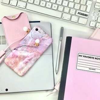 phone cover yeah bunny marble iphone case cute pink pastel pink marble