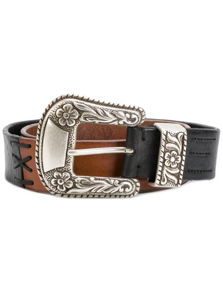 embellished belt black