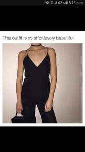romper,black,jumpsuit,black jumpsuit,party outfits,sexy,classy,cute,girly,summer outfits,spring outfits,fall outfits,winter outfits,new year's eve,date outfit,clubwear,wedding clothes,wedding guest,romantic