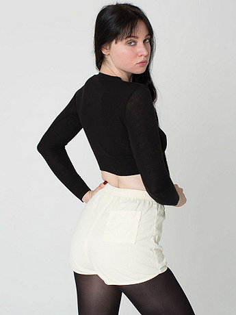 Rigid Corduroy High-Waist Short | American Apparel