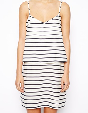 Asos double layer stripe cami dress at asos