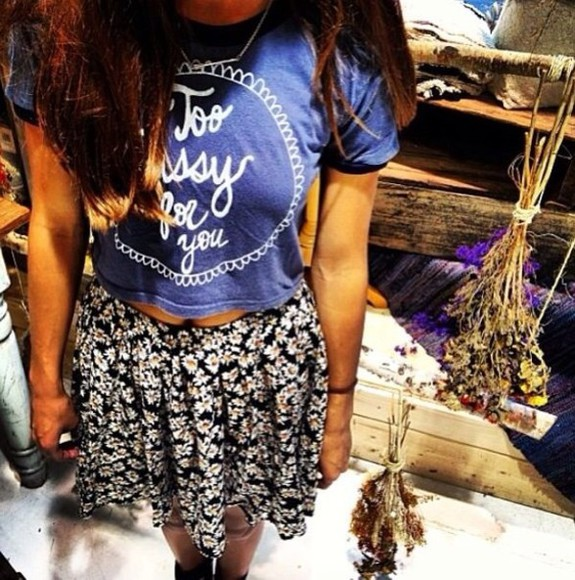 skirt t-shirt shirt graphic tee blue shirt blue t-shirt