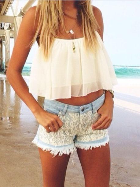 Nextshe summer women's fashion solid causal halter neck crop chiffon tank tops short vest white s m l xl size