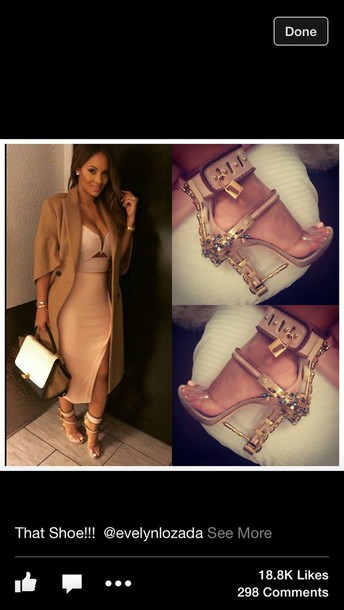 shoes gold heels evelyn lozada shoes baige