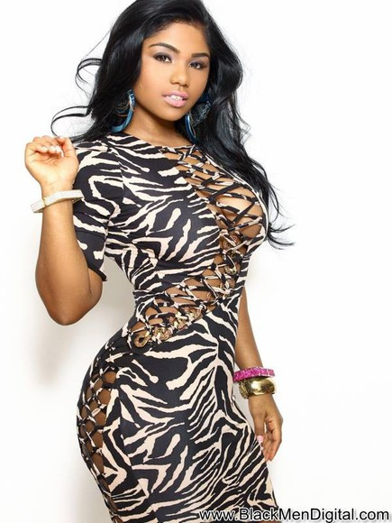 zebra print gorgeous dress sexy dress black & white dress