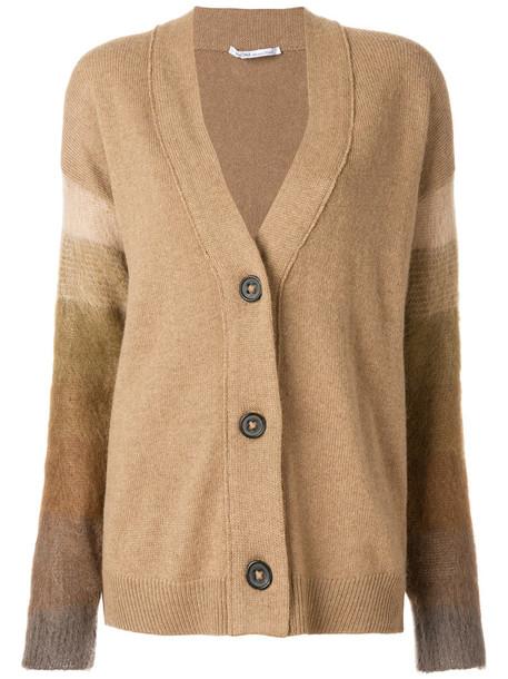 Agnona cardigan cardigan hair women mohair wool brown camel sweater