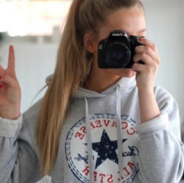 jacket camera hoodie converse converse hoodie grey converse sweater converse erica mohn kvam grey sweater logo grey