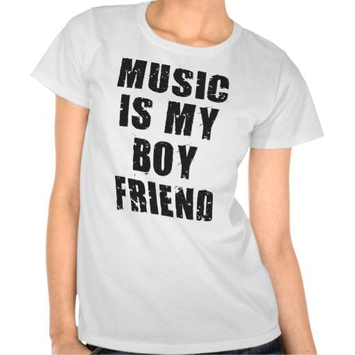 Music Is My Boyfriend Ladies Tee