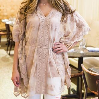 shirt top tunic lace nude amazinglace free spirit