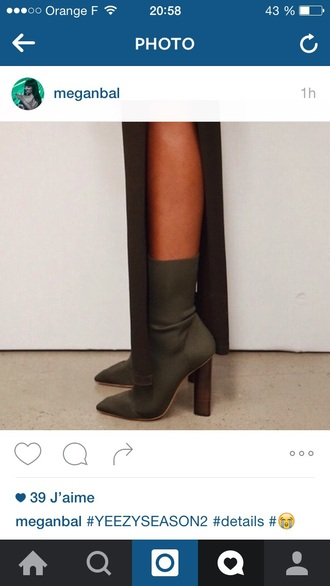 shoes high heels heels yeezy kanye west boots high heels boots fall accessories