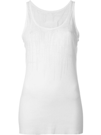 tank top top sheer white
