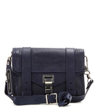mini bag shoulder bag leather blue