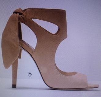 shoes nude bow zara