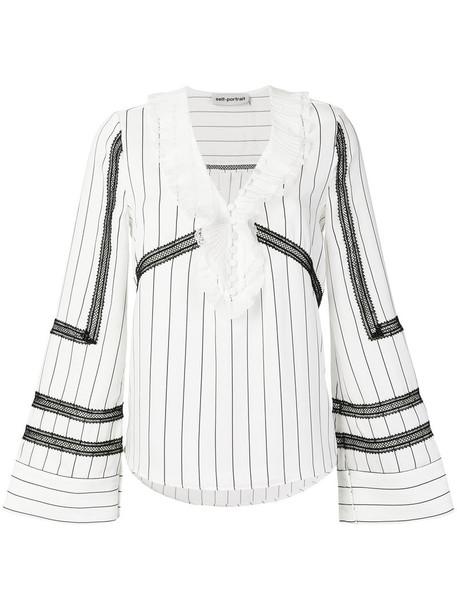 blouse women lace white top