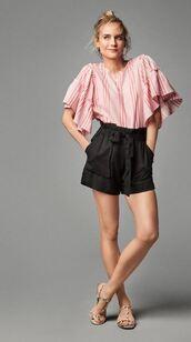 shorts,blouse,top,sandals,diane kruger