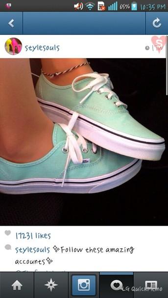 shoes vans mint