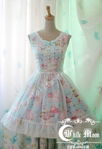 Dress Sweet Cute Kawaii Chiffon Chiffon Dress Lolita
