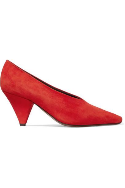 Neous suede pumps pumps suede red shoes