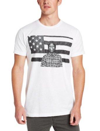 Amazon.com: ASAP Rocky Men's American Flag Screen Print T-Shirt: Clothing