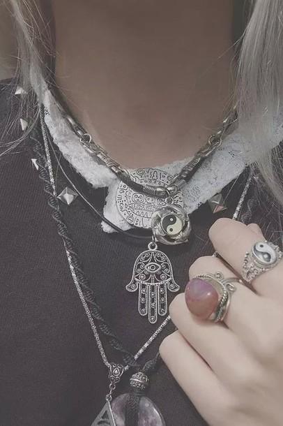 jewels buddhism hamsa necklace native american jewelry necklace hamsa hand hamsa necklace fatima hand silver silver necklace silver jewelry