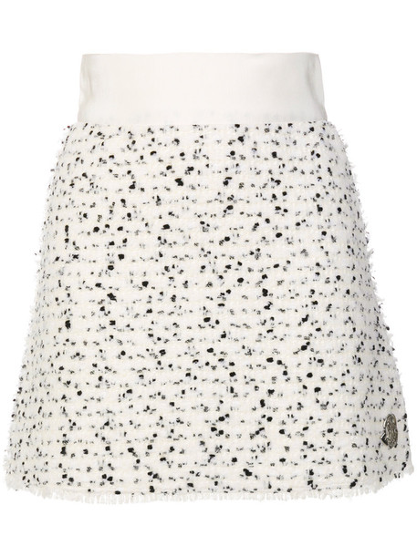 Moncler Gamme Rouge skirt mini skirt mini women white cotton silk wool