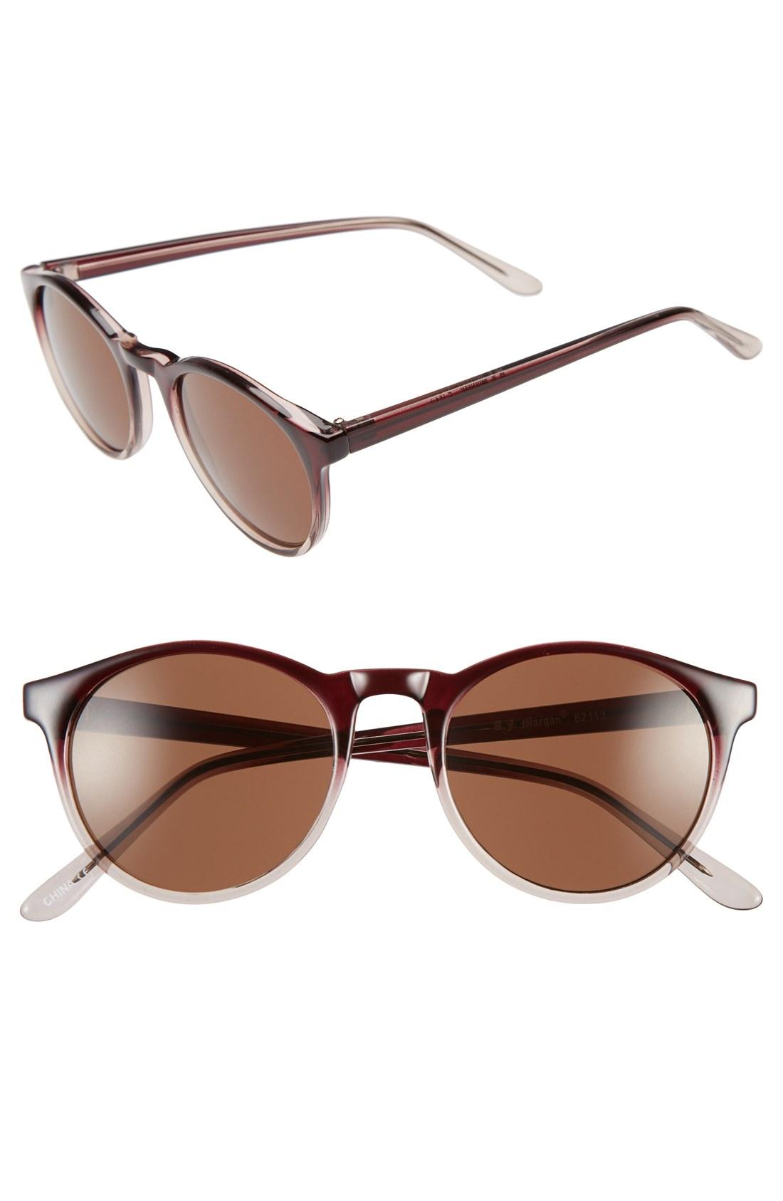 bbd06c088f A.J. Morgan  Grad School  49mm Round Sunglasses