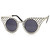 Womens Indie Hipster Fashion Round Cat Eye Criss Cross Sunglasses