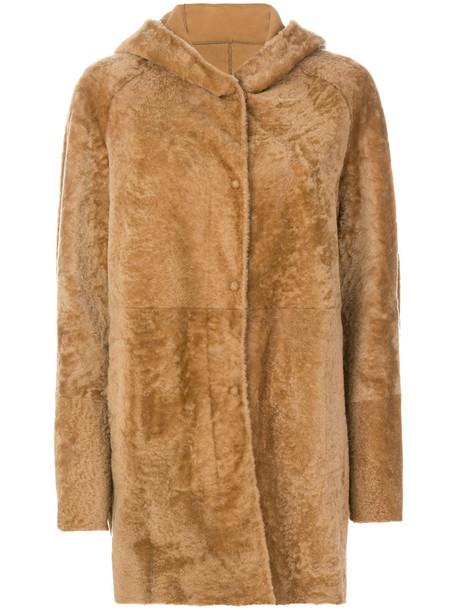 DROME jacket shearling jacket fur women brown