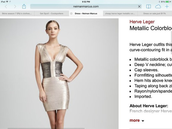 dress metallic dress herve leger bandage dress metallic effy effy stonem effy dress in fire skins fire skins kata kaya skins season 7 short dress neiman marcus herve leger metallic dress cute show british colorblock effys dress in fire, short, champagne, kaya scodelario herve leger dresses colorblock dress