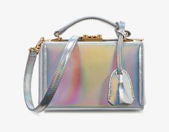 bag holographic bag holographic shoulder bag iridescent silver bag