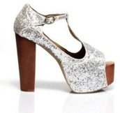 shoes,silver,glitter,jeffrey campbell,foxy,platform shoes,prom,sparkle
