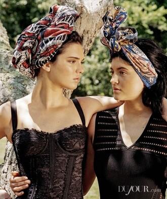 hair accessory kendall and kylie jenner hair band top kendall jenner kylie jenner bustier corset