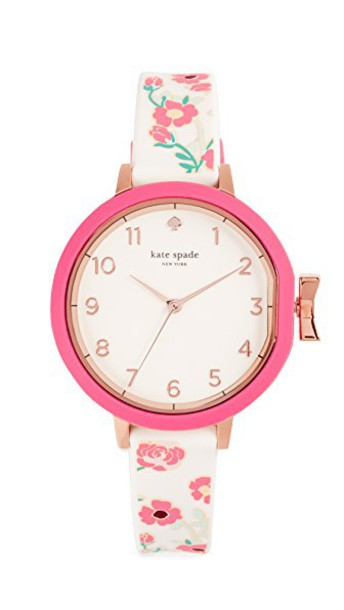 Kate Spade New York watch floral rose gold rose gold white pink jewels