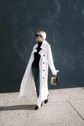 damsel in dior,blogger,shoes,coat,white coat,trench coat,spring outfits