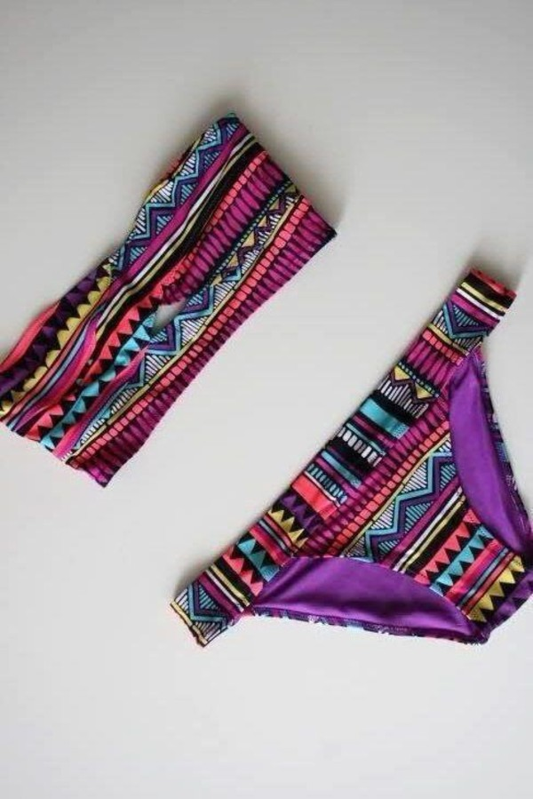 Tribal Print Bathing Suit On The Hunt
