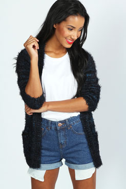 Bex High Waisted Exposed Pocket Denim Hotpants at boohoo.com