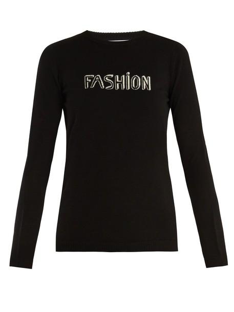 Bella Freud sweater wool sweater fashion wool black