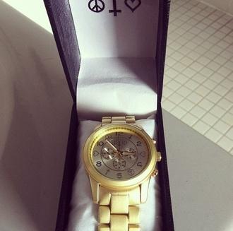 jewels watch gold watch heart cross gold peace sign