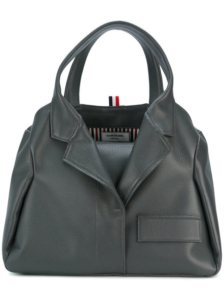 Thom Browne women leather grey bag