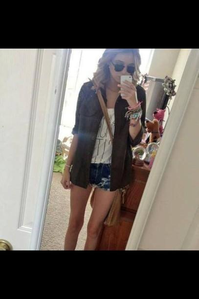jacket bag coat t-shirt jewels sunglasses