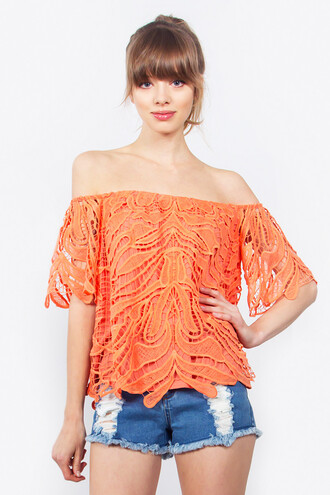 top off the shoulder top summer top home goods galore