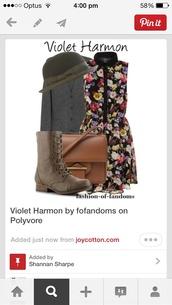 dress,violet harmon,ams,american horror story,bag,hat,cardigan,shoes