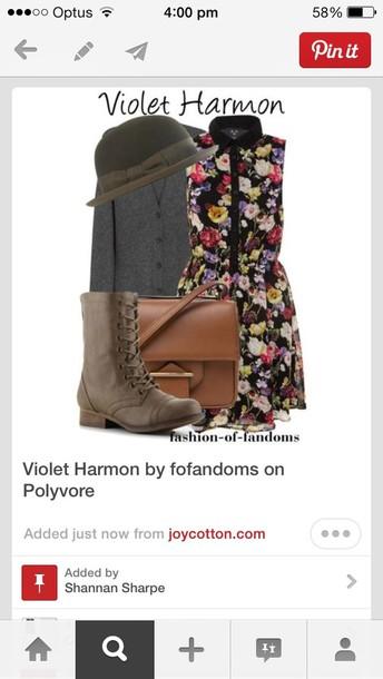 dress violet harmon ams american horror story bag hat cardigan shoes